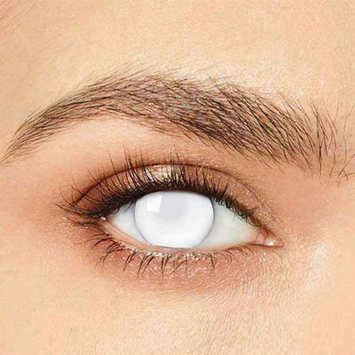 IsFoy® Eye Color Circle Lens Blind White Special Effect Colored Contact Lenses V6208