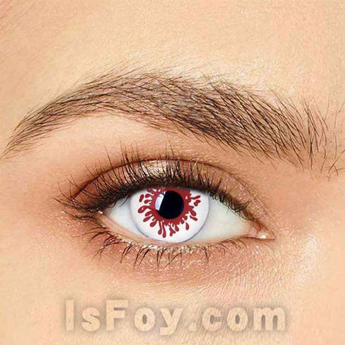 IsFoy® Eye Color Circle Lens Blood splat Special Effect Colored Contact Lenses V6209