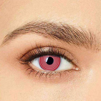 IsFoy® Eye Color Circle Lens Red Spiral Special Effect Colored Contact Lenses V6221