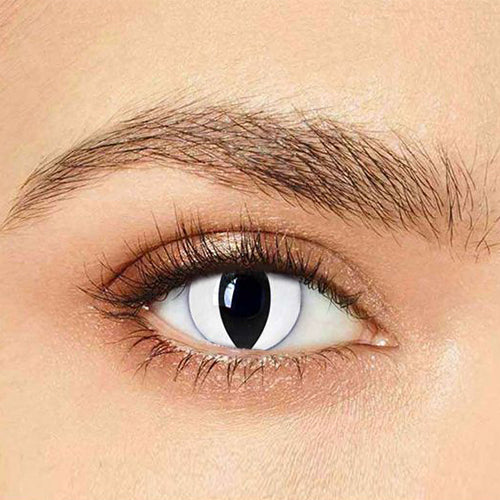 IsFoy® Eye Color Circle Lens White Cat Special Effect Colored Contact Lenses V6227