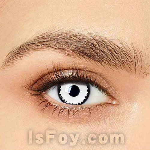 IsFoy® Eye Color Circle Lens White Zombie Special Effect Colored Contact Lenses V6229