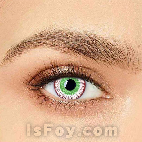 IsFoy® Eye Color Circle Lens Zombie Virus Special Effect Colored Contact Lenses V6231