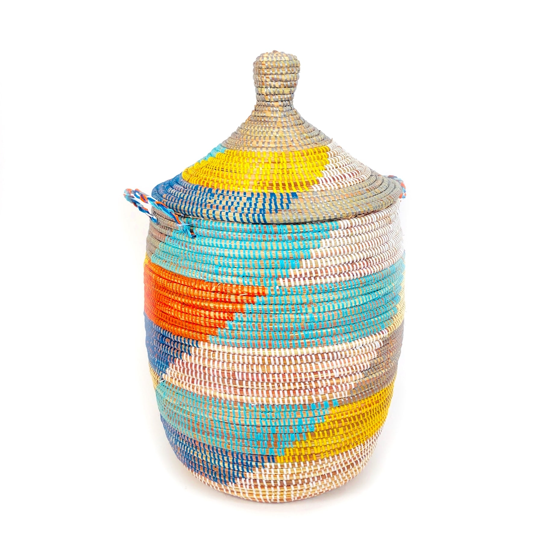Large Multicolor Senegalese Basket