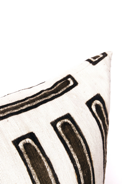 Malian Mudcloth Print Decorative Pillow 20""