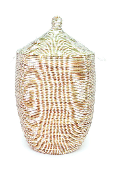 Large Solid White African Hamper