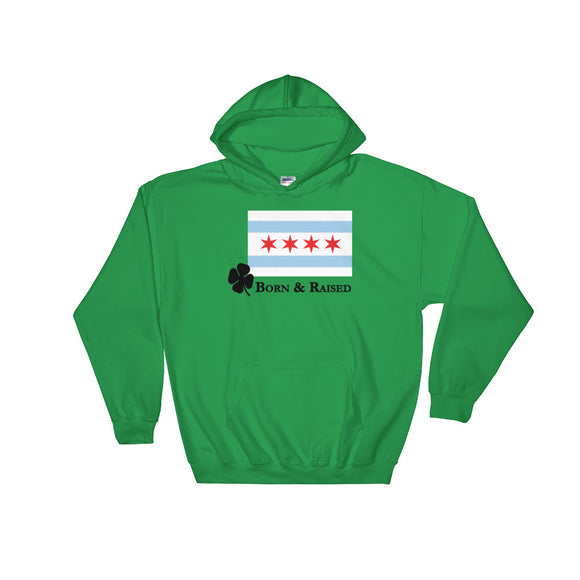 Hoodie - Born n Raised Chicago Irish