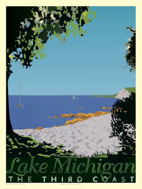 Lake Michigan Print No. [030]