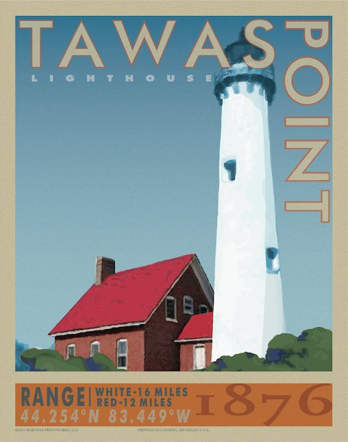 Tawas Point Lighthouse Print No. [032]