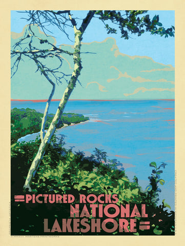 View from a Bluff in Pictured Rocks National Lakeshore Print No. [074]