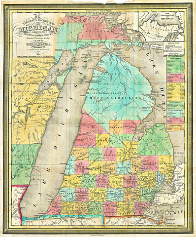 Map of Michigan, 1839