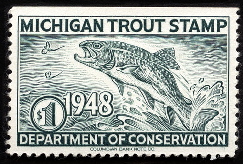 1948 Michigan Trout Stamp