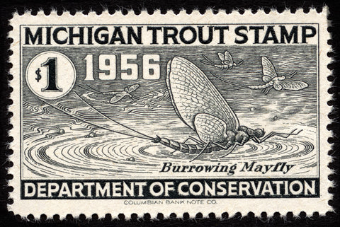 1956 Michigan Trout Stamp