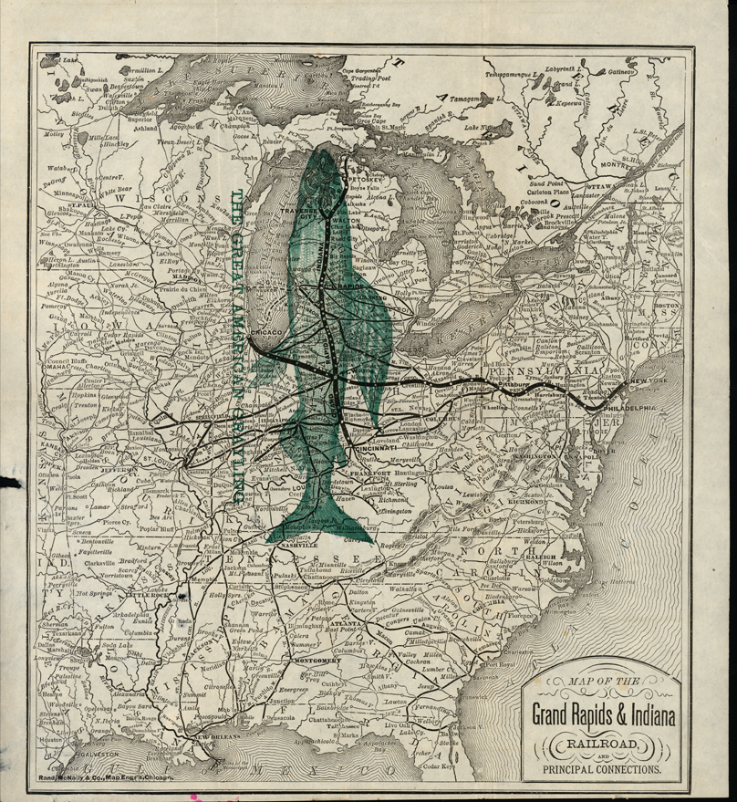 Map of the Grand Rapids Indiana Railroad 1900 Michiganology