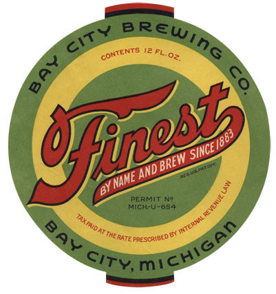 Finest Beer Label Print