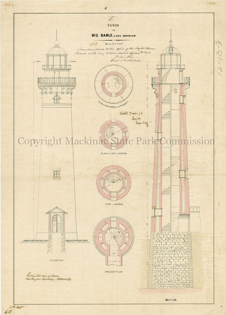 Big Sable Lighthouse, 1873