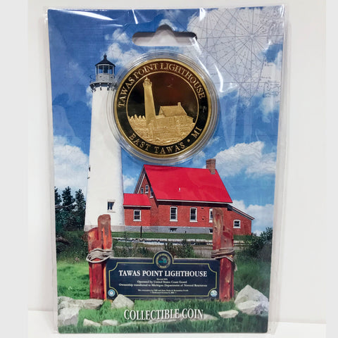 Tawas Point Lighthouse Collectible Coin