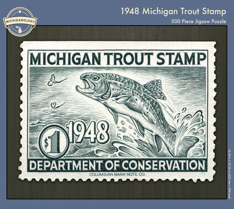 1948 Michigan Trout Stamp Puzzle