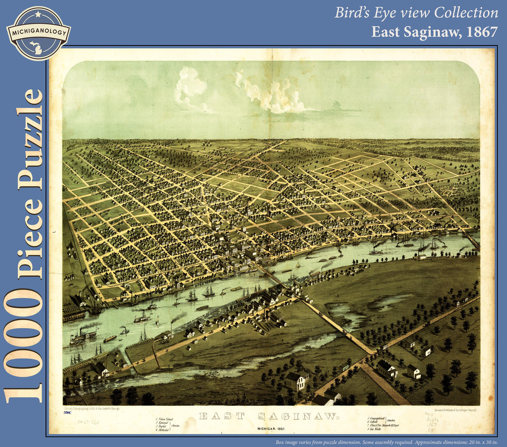 East Saginaw, 1867 Puzzle
