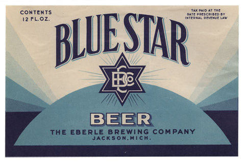 Blue Star Beer Label Print