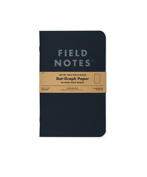 Field Notes Pitch Black Large Memo Book 2-Pack