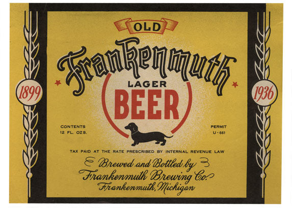 Old Frankenmuth Lager Beer Label Print