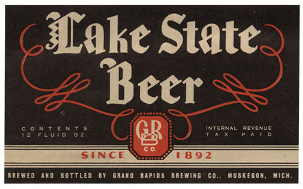 Lake State Beer Label Print