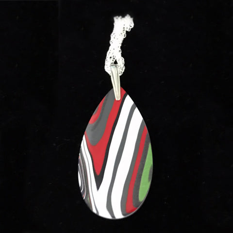Fordite Pendant Necklace