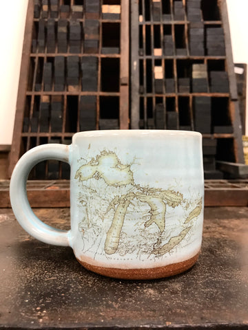 Map of Michigan Mug