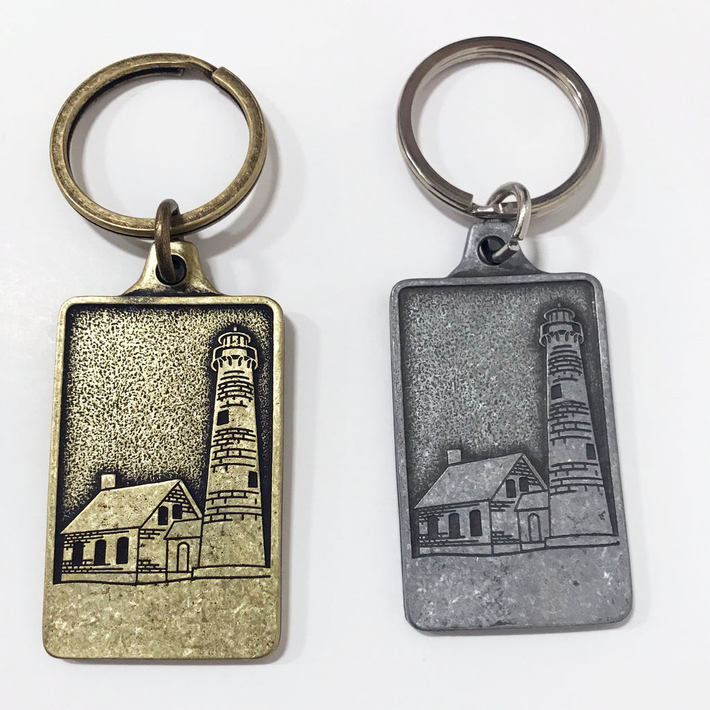 Tawas Lighthouse Antique Finish Keychain