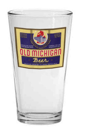Old Michigan Beer Label Pint Glass