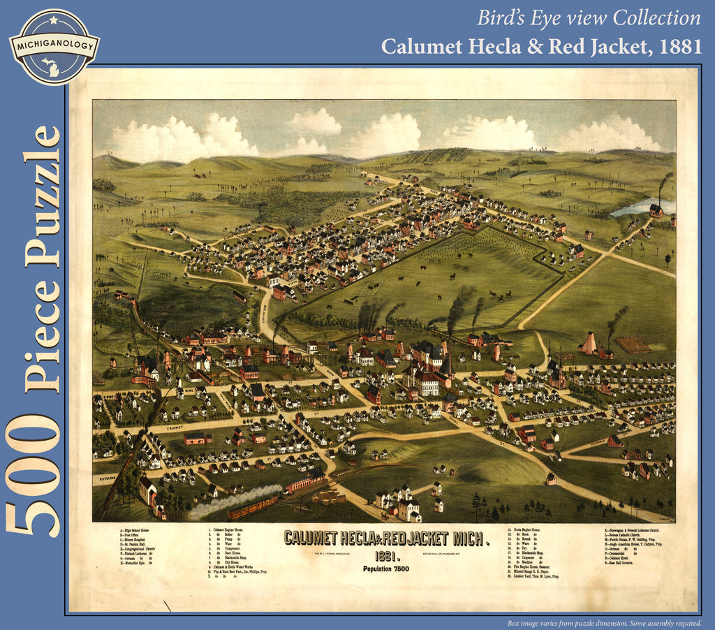 Calumet Hecla and Red Jacket, 1881 Puzzle
