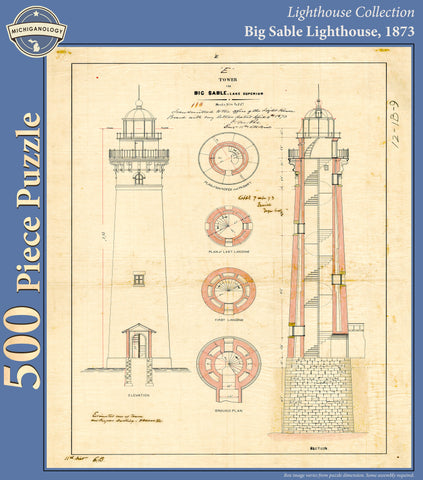 Architectural drawings michiganology big sable lighthouse architectural drawing puzzle malvernweather Choice Image