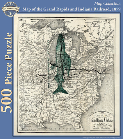 Map of the Grand Rapids and Indiana Railroad Puzzle