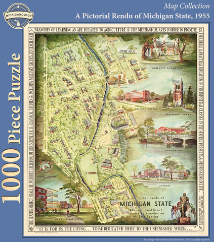 A Pictorial Rendu of Michigan State, 1955 Puzzle