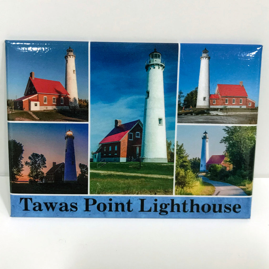 Tawas Point Lighthouse Collage Magnet