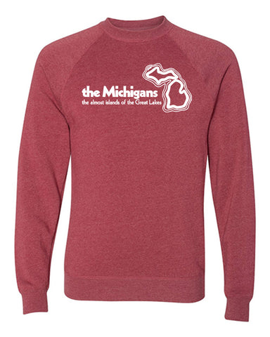 The Michigans: The Almost Islands of the Great Lakes Crewneck Sweatshirt
