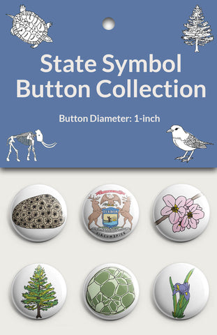 State Symbol Button Collection #1