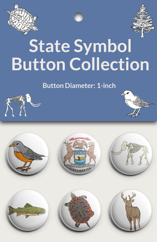 State Symbol Button Collection #2