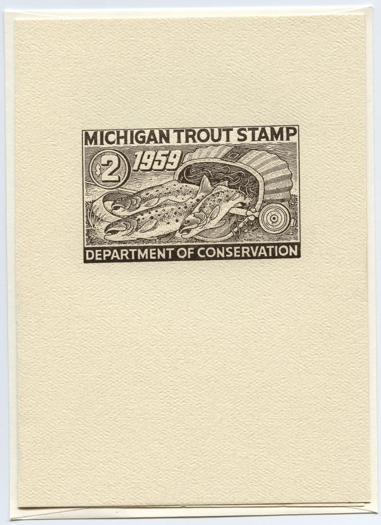 1959 Trout Stamp Note Card