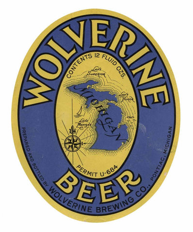 Wolverine Beer Label Print