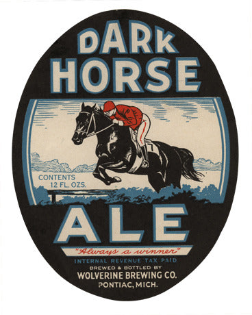 Dark Horse Ale Label Print