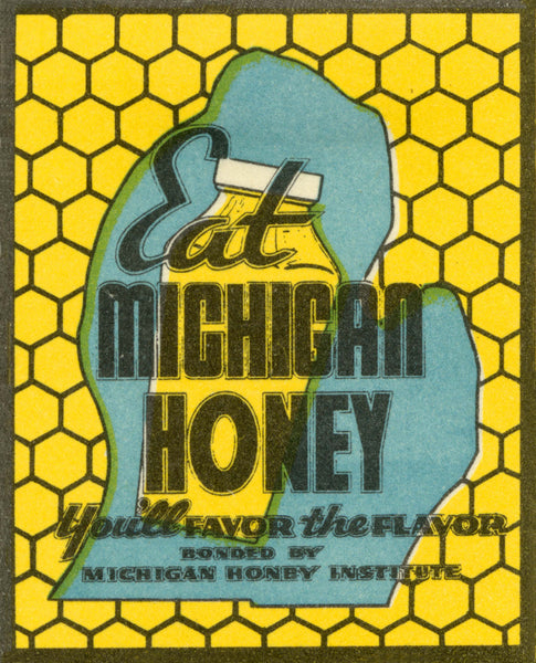 Eat Michigan Honey Print