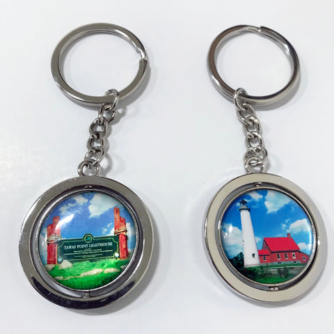 Tawas Point Lighthouse Spinner Keychain