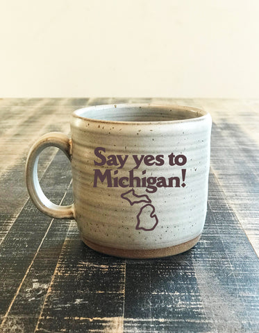 Say Yes to Michigan! Grayling Ceramics hand-made mug