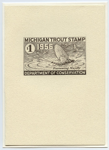 1956 Michigan Trout Stamp Note Card