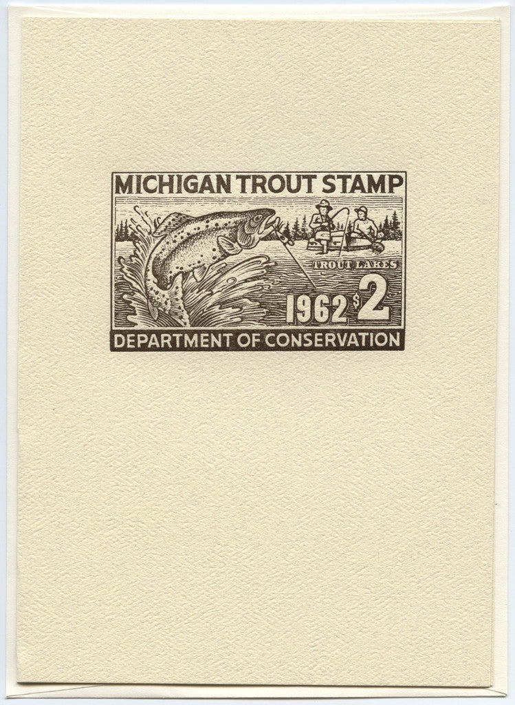 1962 Trout Stamp Note Card