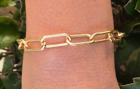18k Gold Plated Chunky Link Bracelet bracelet-bangle