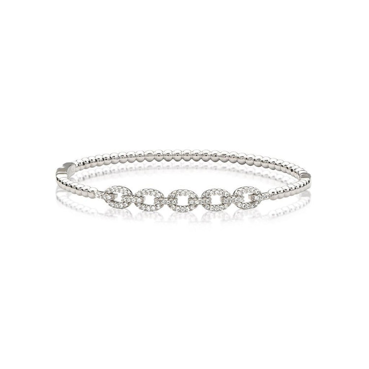 5 Dot Bracelet Rhodium bracelet-bangle