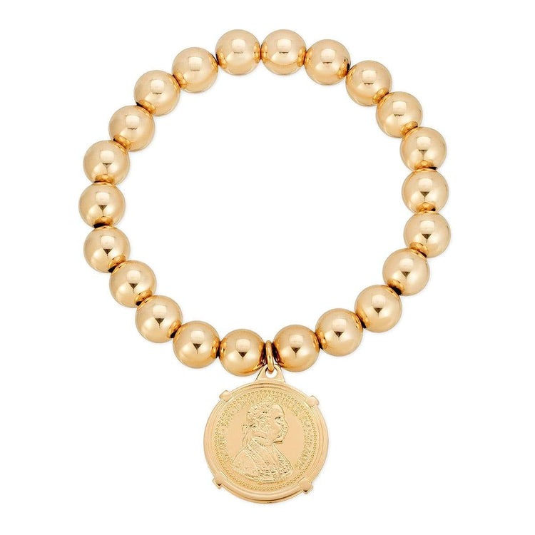 8mm Gold Fill Coin Bracelet bracelet-adjustable