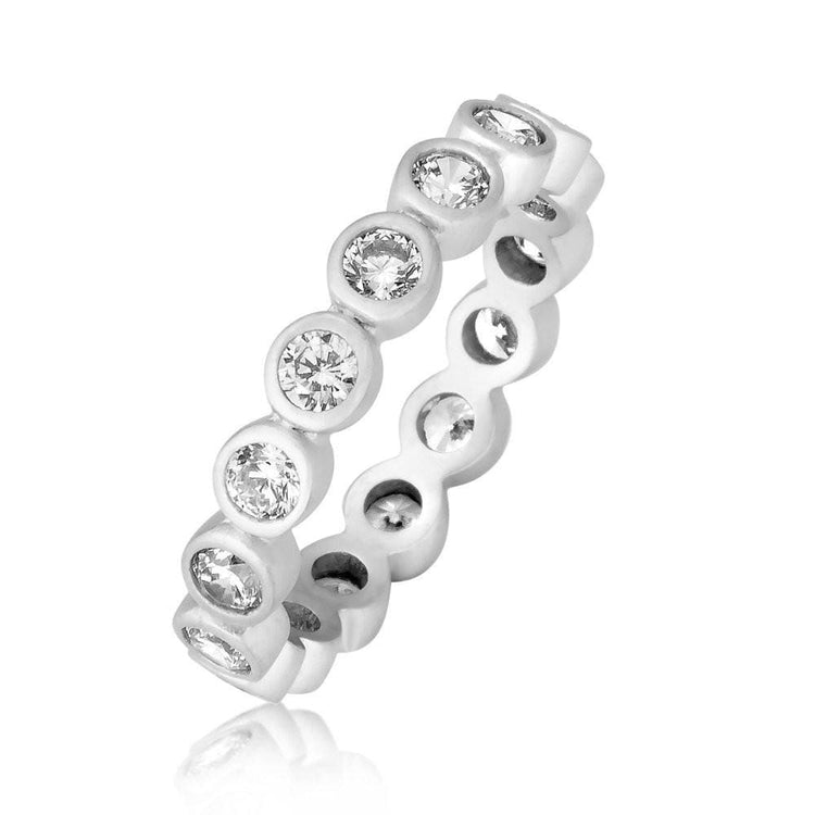 All Around Treasure Ring 5 / Rhodium ring-stackable